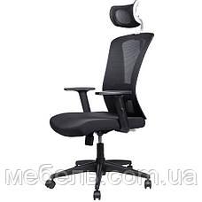 Кресло для врача Barsky BM-04 White/Black, сеточное кресло, черный / белый, фото 2