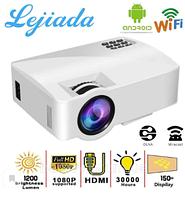 Мультимедийный FullHD Проектор A8 WiFi , LED-проектор 1200 люмен, Android 6.0