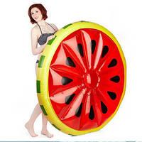 Оригинальный пляжный надувной матрас Арбуз, большой детский плот для плавания, круглый