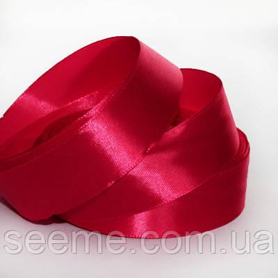 Лента атласная 25 мм, цвет клюква
