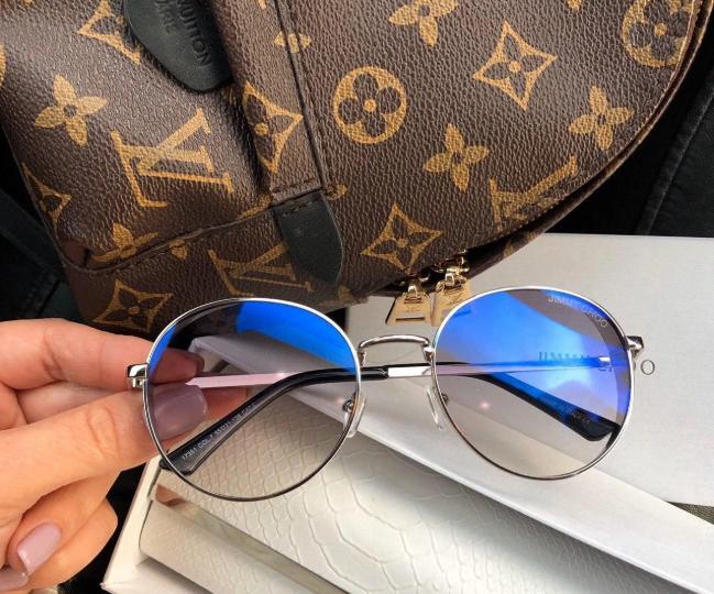 Жіночі брендові сонцезахисні окуляри (7315) blue