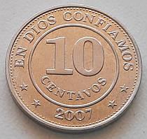 Никарагуа 10 сентаво 2007