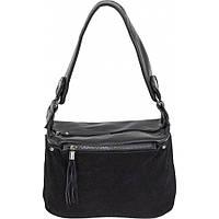 Симпатичная сумочка небольшого размера из натуральной замши и эко-кожи