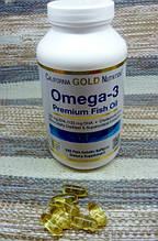 California Gold Nutrition Омега-3 рыбий жир высшего качества 240 желатиновых шт, официальный сайт