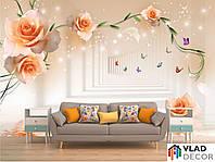 Фотообои Тоннель с оранжевыми цветами по Вашим размерам