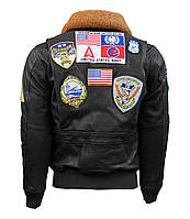 Кожаная куртка Top Gun 2 Maverick Official Signature Series Flight Jacket 2.0 TG2 (Brown), фото 1