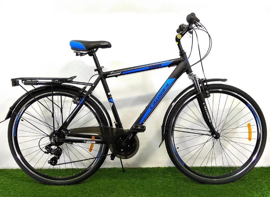 Гірський велосипед Crosser Gamma 28 розмір рами 21 чорно-синій