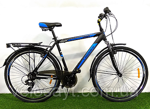 Гірський велосипед Crosser Gamma 28 розмір рами 21 чорно-синій, фото 2
