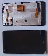 Nokia Lumia 900 дисплей в зборі з тачскріном модуль чорний
