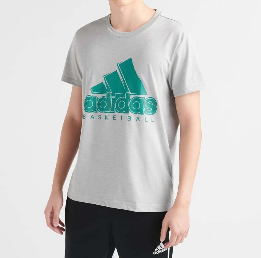 Мужская серая фирменная футболка Adidas BOS Solid DU6304
