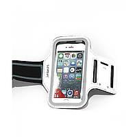 Чехол для телефона на руку LiveUp SPORTS ARMBAND, неопрен, полиэстер, р-р 67х135мм, белый (LS3720A)