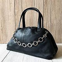 Женская черная сумочка из натуральной кожи P&E - A9143/Black