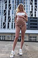 Шорты для беременных карамель