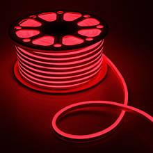 Светодиодный Neon BIOM SMD2835-120 led 220V IP68 8x16 Стандарт Красный