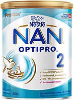 Суха молочна суміш NAN® 2 OPTIPRO®  (НАН) 800 г для дітей від 6 місяців.