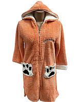 Домашний халат махровый женский короткий (софт), размер S, Massimo Monelli