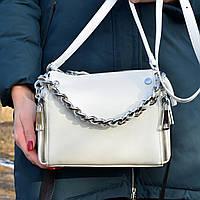 Женская сумка кросс-боди Polina & Eiterou  - A9132/White