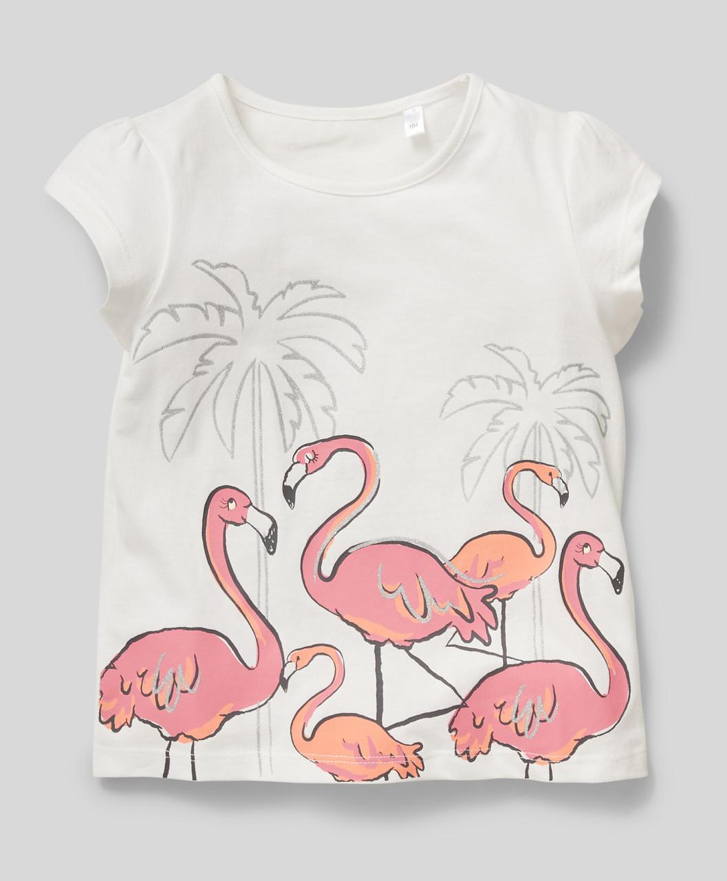 Белая футболка с принтом на девочку C&A Германия Размер 116