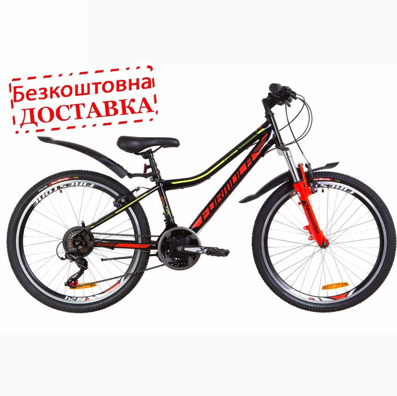 """Велосипед підлітковий 24"""" FORMULA FOREST AM 2019  рама 12.5, з крилом"""