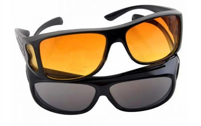 Антибликовые очки для водителей HD Vision Wrap Arounds, 2 шт (для дня и ночи)