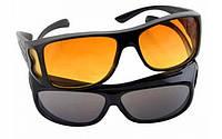 Антибликовые очки для водителей HD Vision Wrap Arounds, 2 шт (для дня и ночи), фото 1