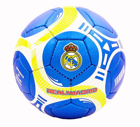 Мяч футбольный Реал Мадрид (Real Madrid) р-р5, сине-бело-желтый