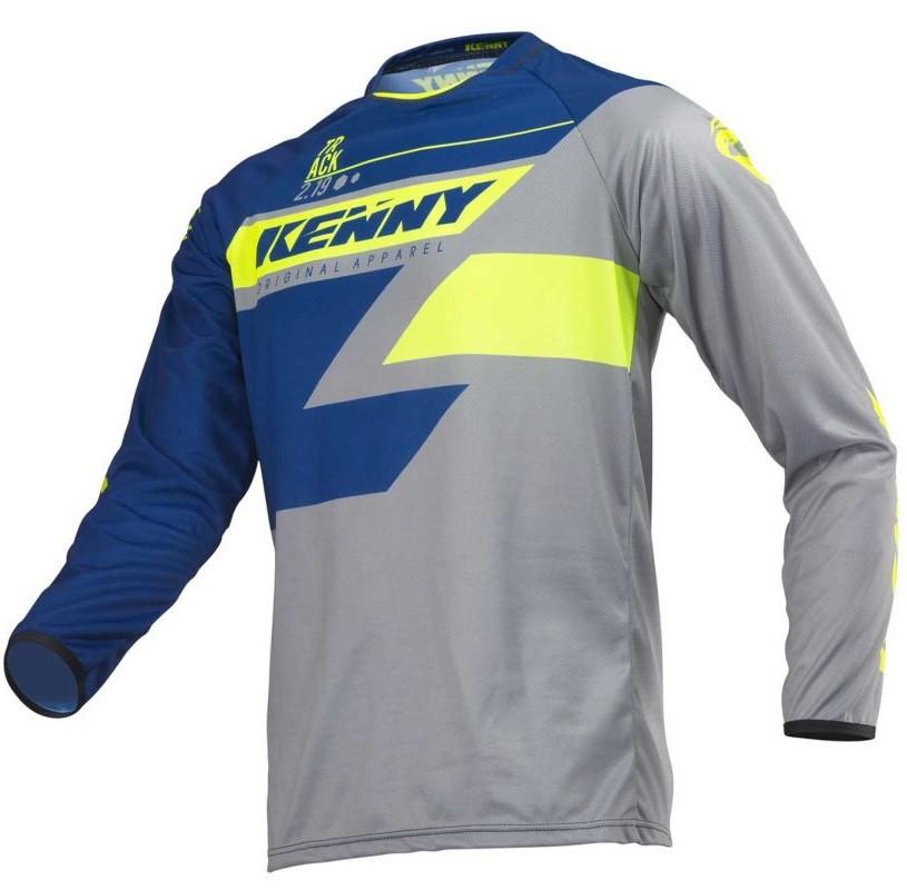 Джерси для мотокросса Kenny Track 2019 Grey/Blue