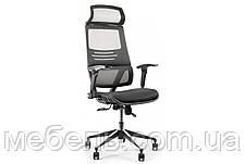 Кресло для врача Barsky BB-04 Black New, сеточное кресло, черный, фото 2