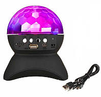 Диско-шар на аккумуляторе Charging crystal magic ball Bluetooth L-740 черный