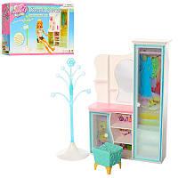 Мебель для кукол (шкаф, пуфик, вешалка)