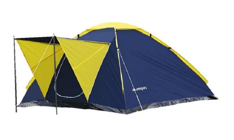 Намет Presto Acamper MONODOME 4 PRO 4-х місна (намет для відпочинку, туризм, 3000 мм, вага 2,8) синя