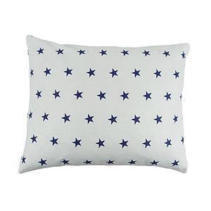 Подушка, 45*35 см, (бавовна), (сині зірочки)