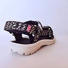 Детские спортивные сандалии мальчикам, темно-синие текстильные босоножки, фото 4