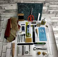 Набор для работы с кожей 3мм 32 предмета набор для рукоделия leather craft