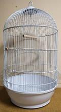 Клетка круглая  белая для попугаев, канареек, амадин DIVA 40-70