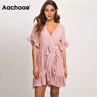 Женское платье летнее розовое размер S