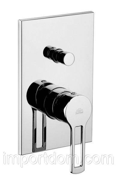 Встроенный смеситель для душа с дивертером Paffoni, наружная часть
