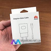 Зарядное устройство Huawei с кабелем micro USB сетевой адаптер для зарядки телефона хуавей черный