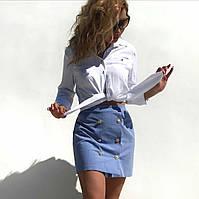 Юбка женская голубая летняя, женская одежда, замшевая новинка 2020