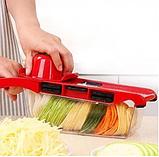 Овощерезка Mandoline Slicer 6 in 1 | Ручная овощерезка с контейнером | Мультислайсер для овощей, фото 6
