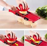 Овощерезка Mandoline Slicer 6 in 1 | Ручная овощерезка с контейнером | Мультислайсер для овощей, фото 9