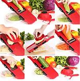 Овощерезка Mandoline Slicer 6 in 1 | Ручная овощерезка с контейнером | Мультислайсер для овощей, фото 10