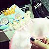 Маска для сна \ повязка для глаз Princess (розовый), фото 3