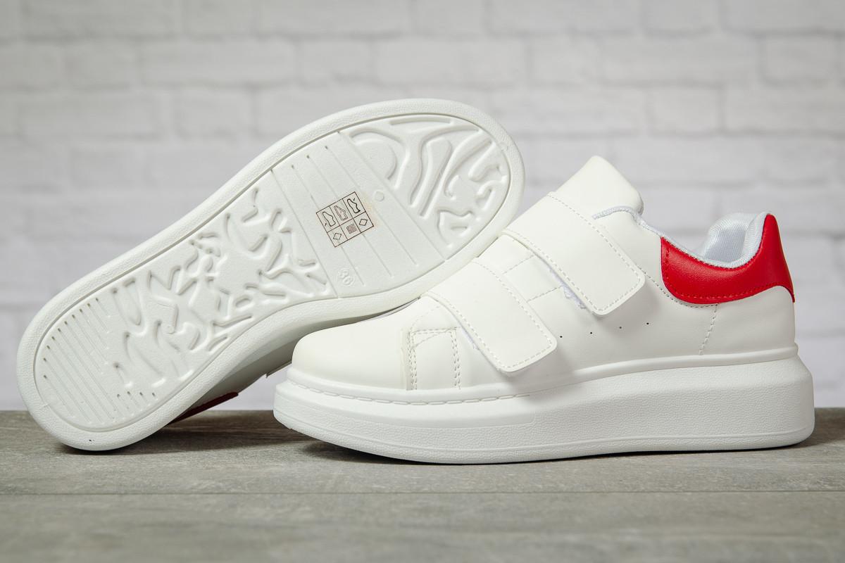 Кроссовки женские 17172 ► MkQueen, белые. [Размеры в наличии: 38,39]