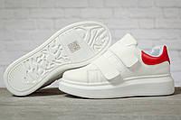 Кроссовки женские 17172 ► MkQueen, белые. [Размеры в наличии: 38,39], фото 1