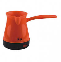 Кофеварка электрическая Dsp КА-3027 New турка для приготовления кофе 600W 0,3L Оранжевая