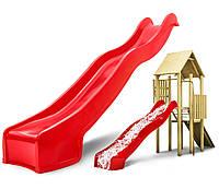 Горка детская пластиковая 3 м. Спуск HAPRO. Производство Голландия. Цвет красный.