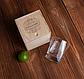 """Стакан для виски в деревянной коробке """"Кращий начальник в світі"""", фото 2"""