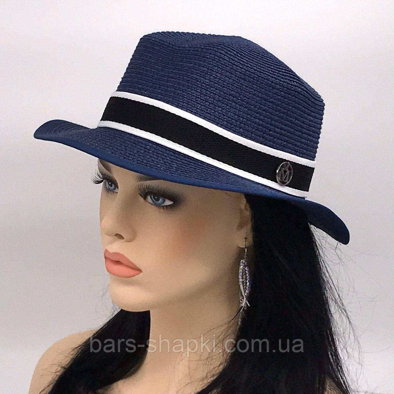 """Шляпа летняя канотье """"Michel"""" (синяя)"""