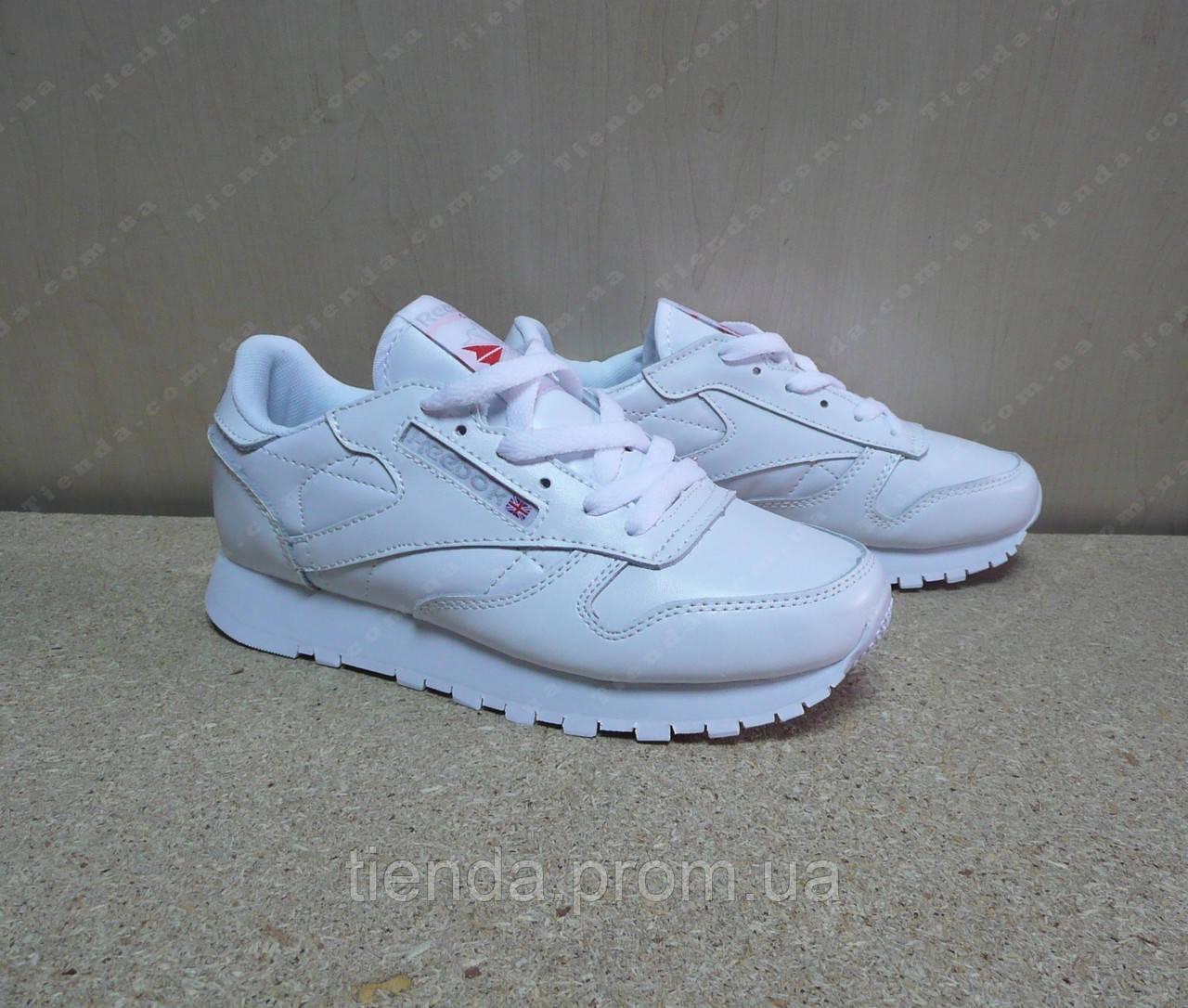 Женские Кроссовки Reebok Classic Leather белые  продажа, цена в ... 7481dd3f254